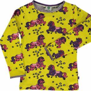 Småfolk Hest T-Shirt, Yellow, 3-4 År