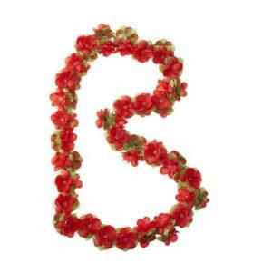 BASIL Blomsterranke 130cm rød