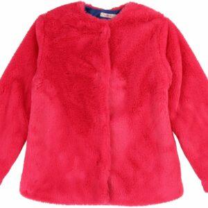 Billieblush Fake Fur Jakke, Cranberries 4 år