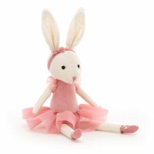 JellyCat Pirouette Kanin, rosa 18 cm