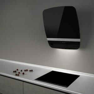 Witt Vision55 Black-2 Væghængt Emhætte – Sort/sølv