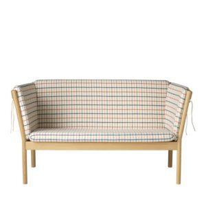 FDB Møbler J148 2 pers. sofa, Eg Rødternet
