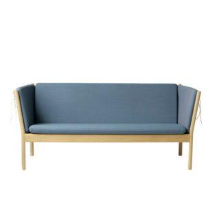 FDB Møbler J149 3 pers. sofa, Eg Uld Støvet blå