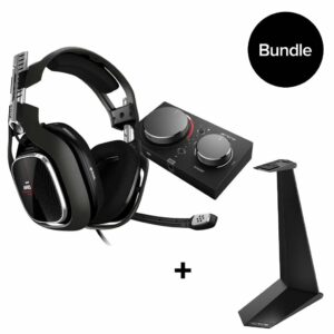Astro – A40 TR Headset + MixAmp Pro TR for PS4 & PC + Headset Stand BUNDLE
