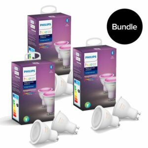 Philips Hue – 3xGU10 2-Pack (6 pcs in total) – Color Ambiance – Bluetooth – Bundle